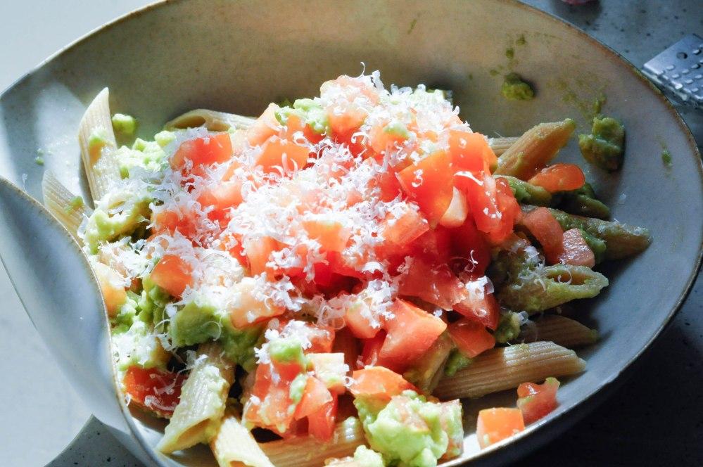 Mashed avocado tomato penne pasta (11 of 12)