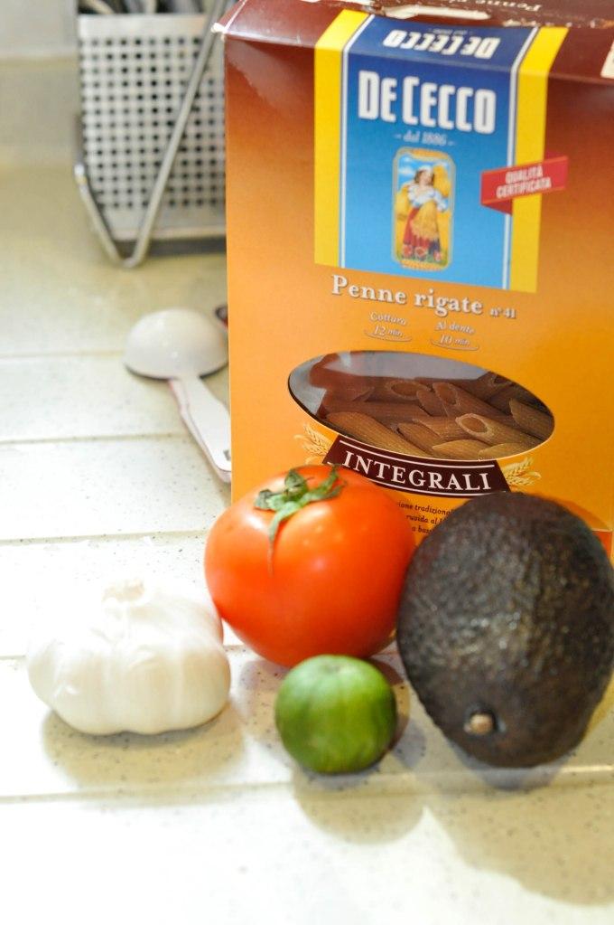 Mashed avocado tomato penne pasta (3 of 12)