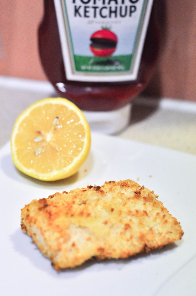 Air fried fish without the chips and oil for Fried fish with bread crumbs