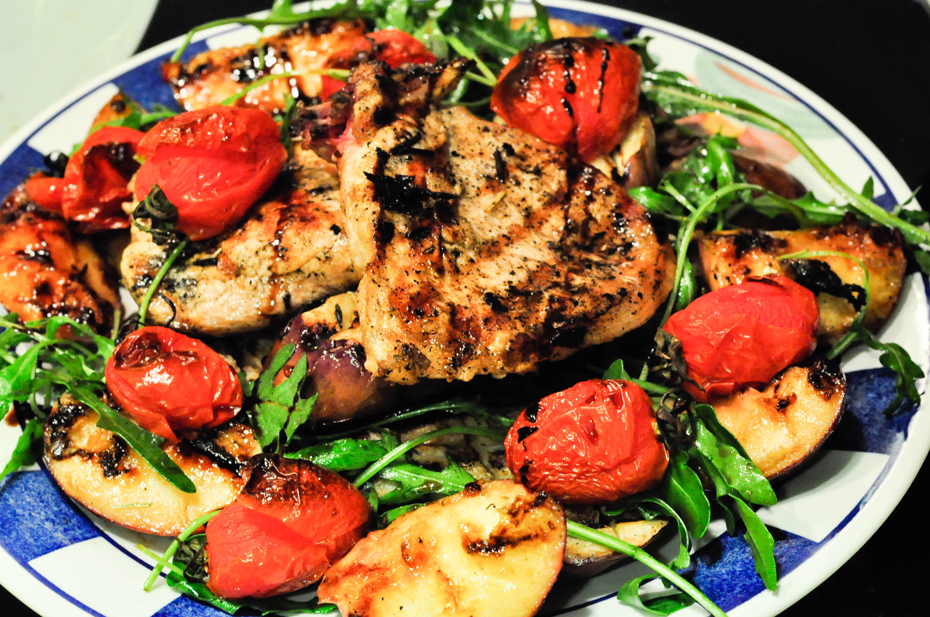 Pork Tenderloin With Tequila-Hot Pepper Glaze & Grilled Peaches ...