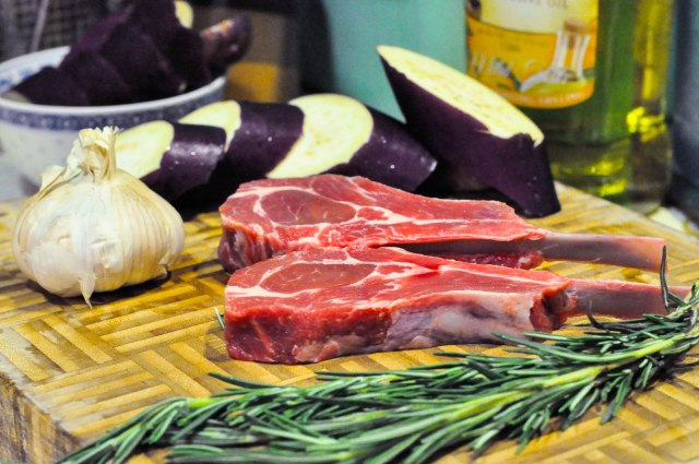 Grilled Rosemary Lamb Chops with Eggplant Side (13 of 13)