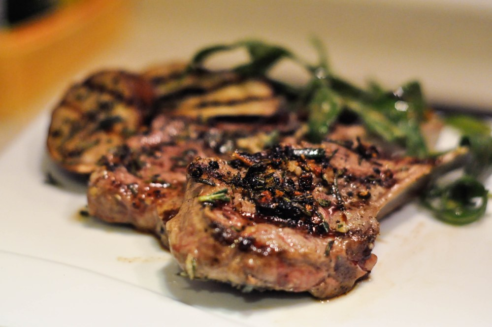 Grilled Rosemary Lamb Chops with Eggplant Side (2 of 13)