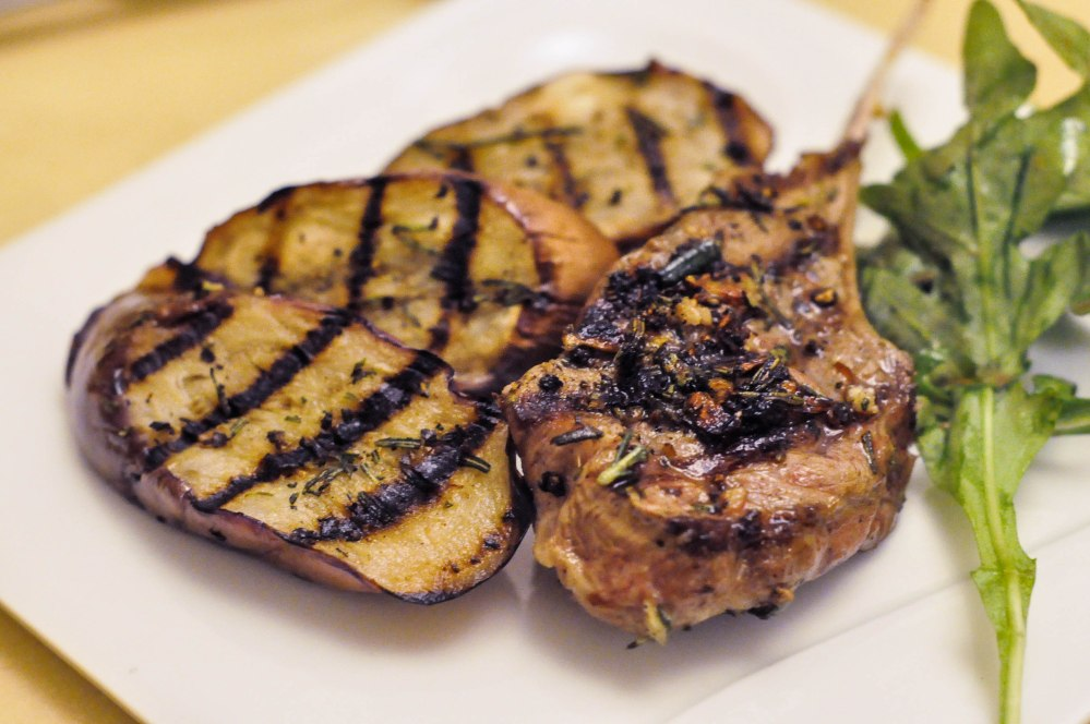 Grilled Rosemary Lamb Chops with Eggplant Side (3 of 13)