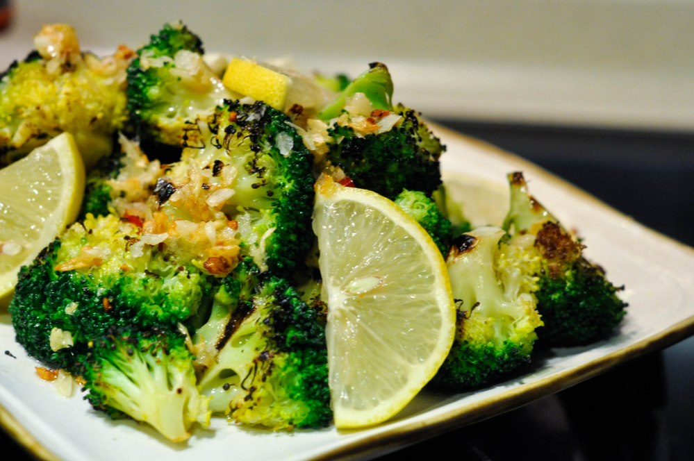 Ottolenghi's Chargrilled Broccoli with Chile, Garlic, and Lemon (7 of 18)
