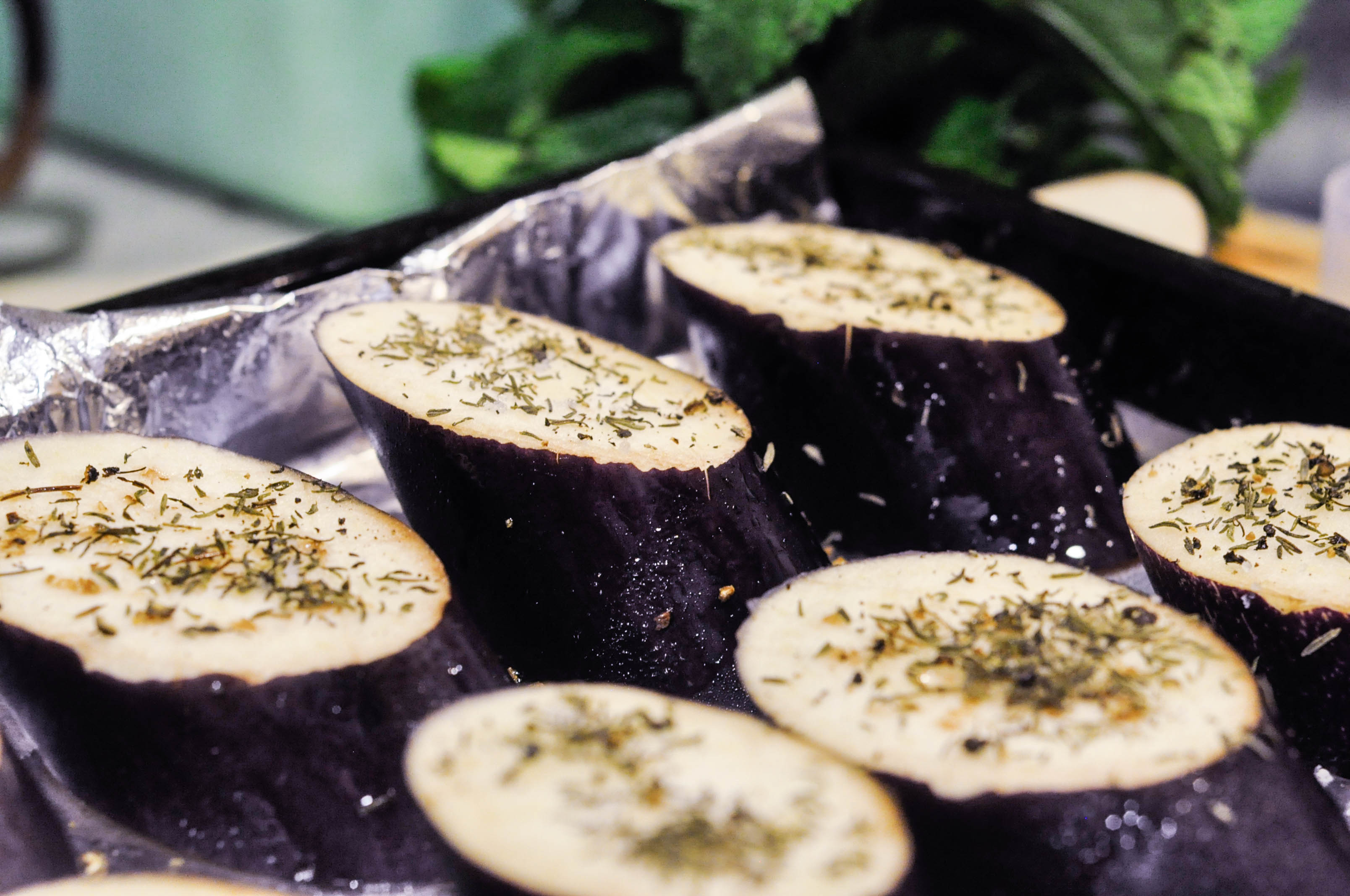 how to cook half marinated eggplant