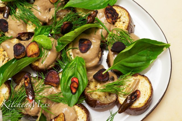 Aubergines with Black Garlic Sauce (1 of 25)