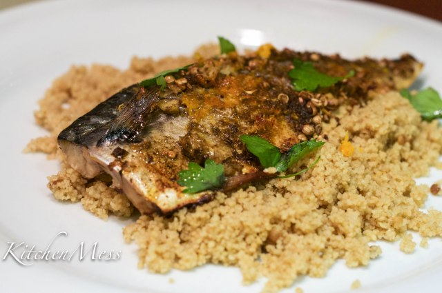 Citrus baked mackerel with couscous (1 of 3)
