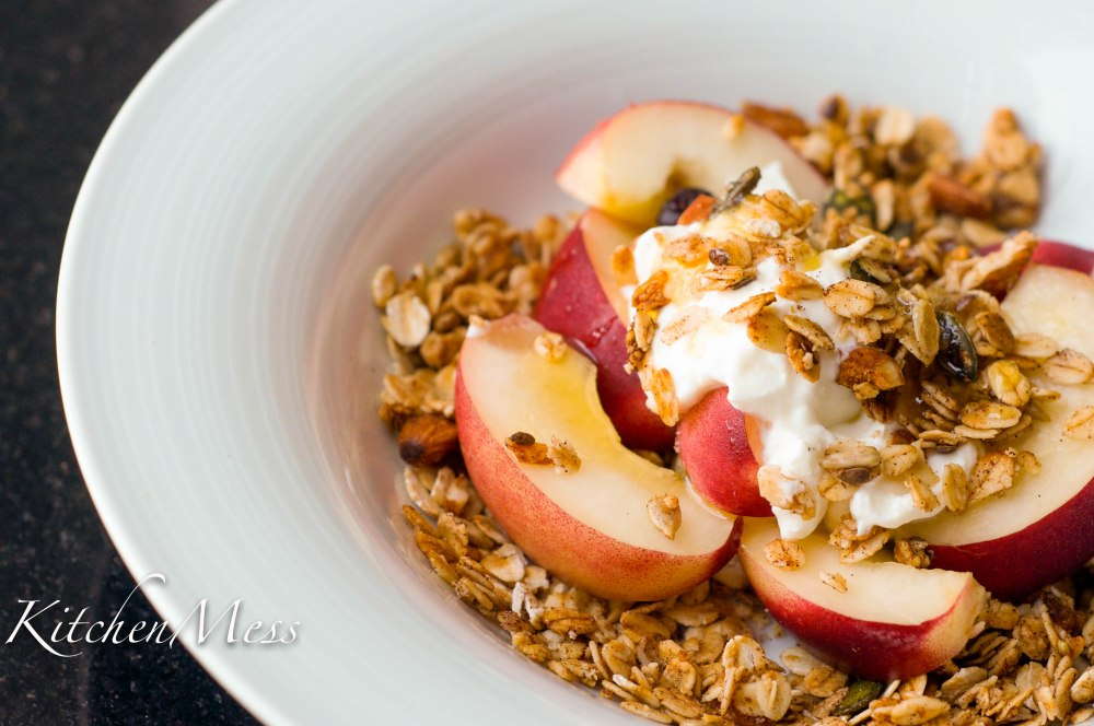 Granola with Honey and Seasalt (served with nectarines and yoghurt) (1 of 10)