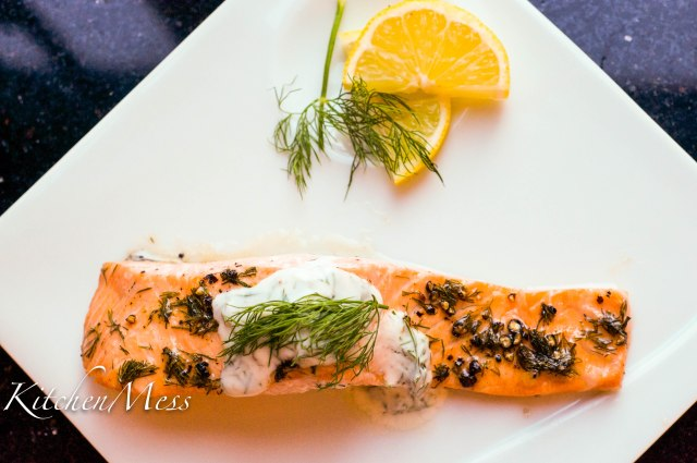 Oven Baked Salmon with Yoghurt Dill Sauce (14 of 18)