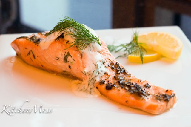 Oven Baked Salmon with Yoghurt Dill Sauce (15 of 18)