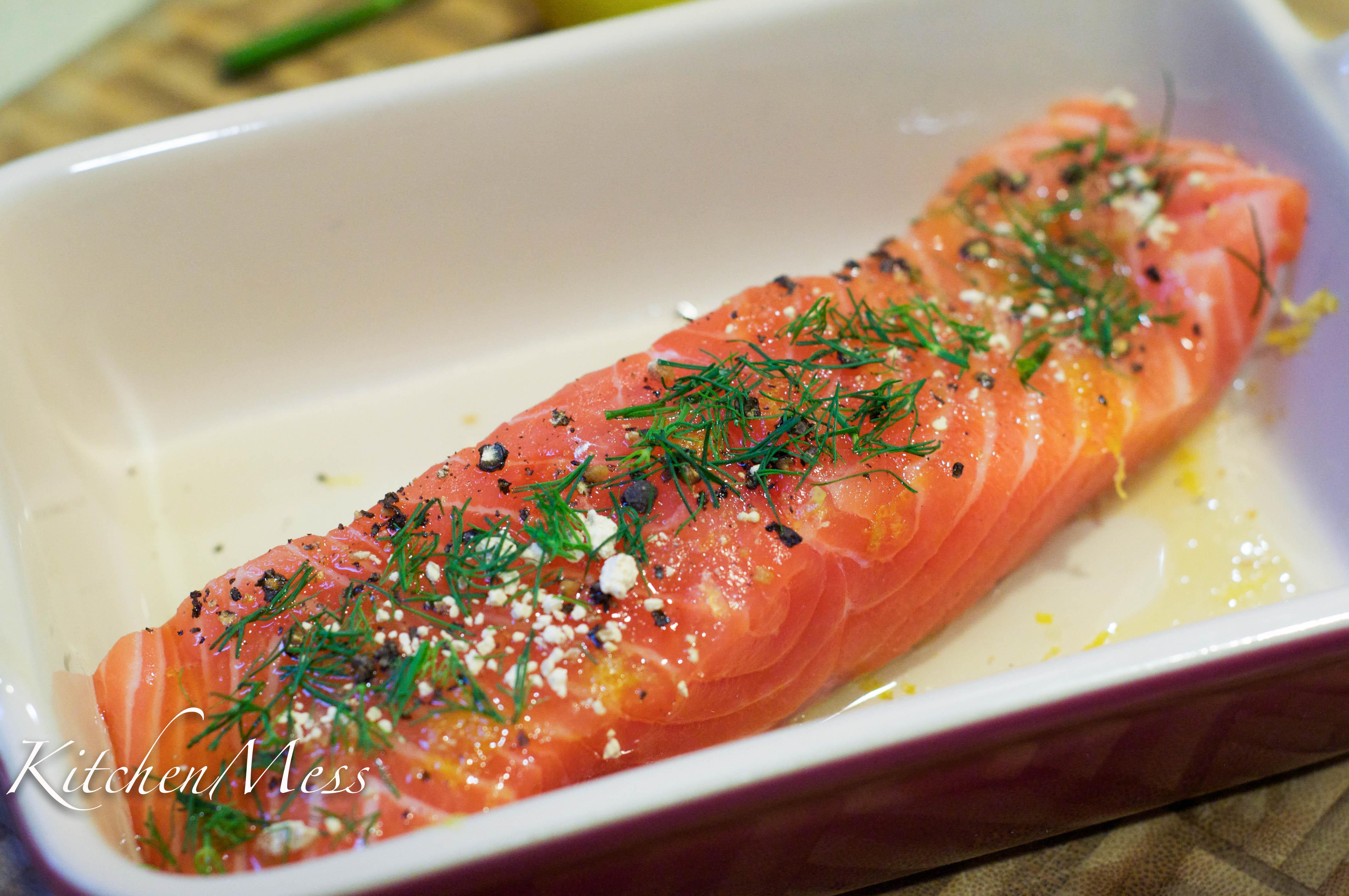 baked salmon dill sauce