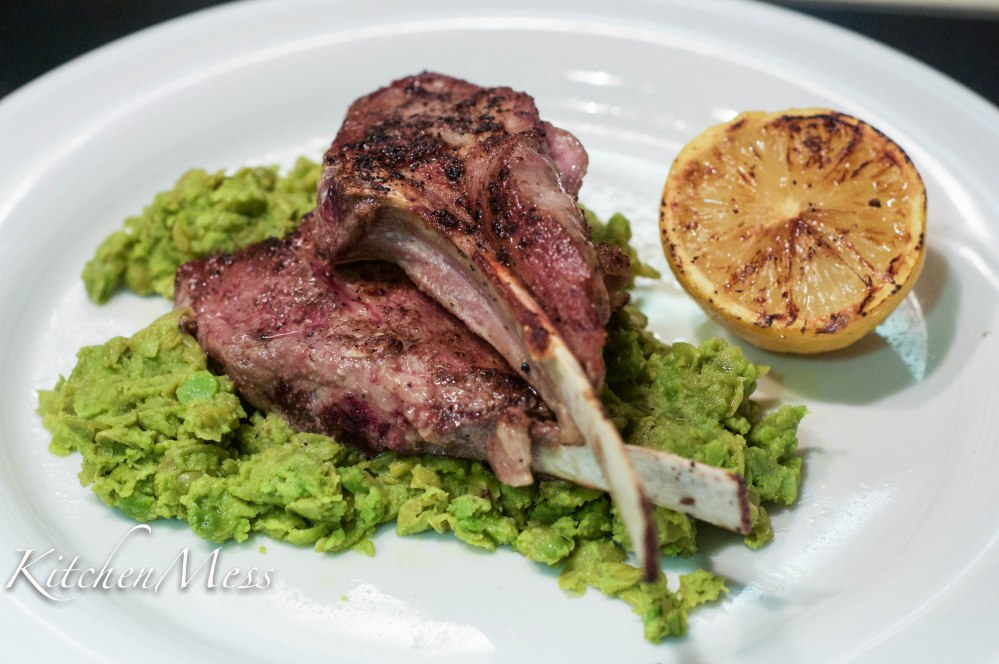 Sumac lamb chops with pea mash (1 of 3)