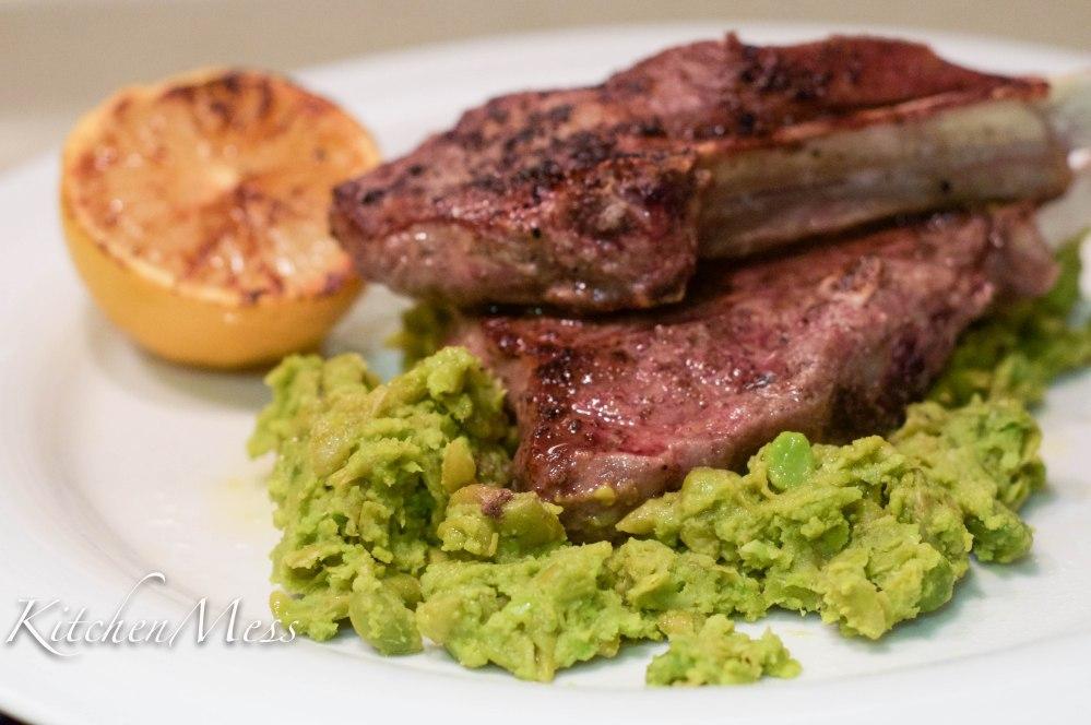 Sumac lamb chops with pea mash (2 of 3)
