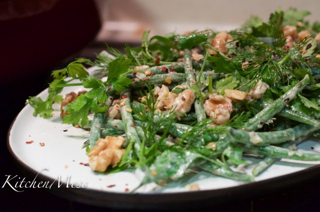 Tahini dressed haricot verts with walnuts and chilli flakes (2 of 9)