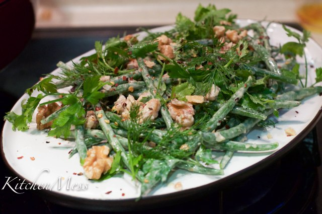 Tahini dressed haricot verts with walnuts and chilli flakes (4 of 9)