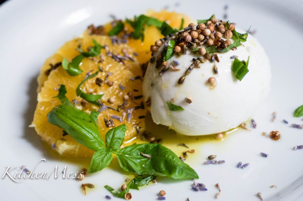 Burrata with Oranges, Coriander Seeds, and Lavender Oil (11 of 25)