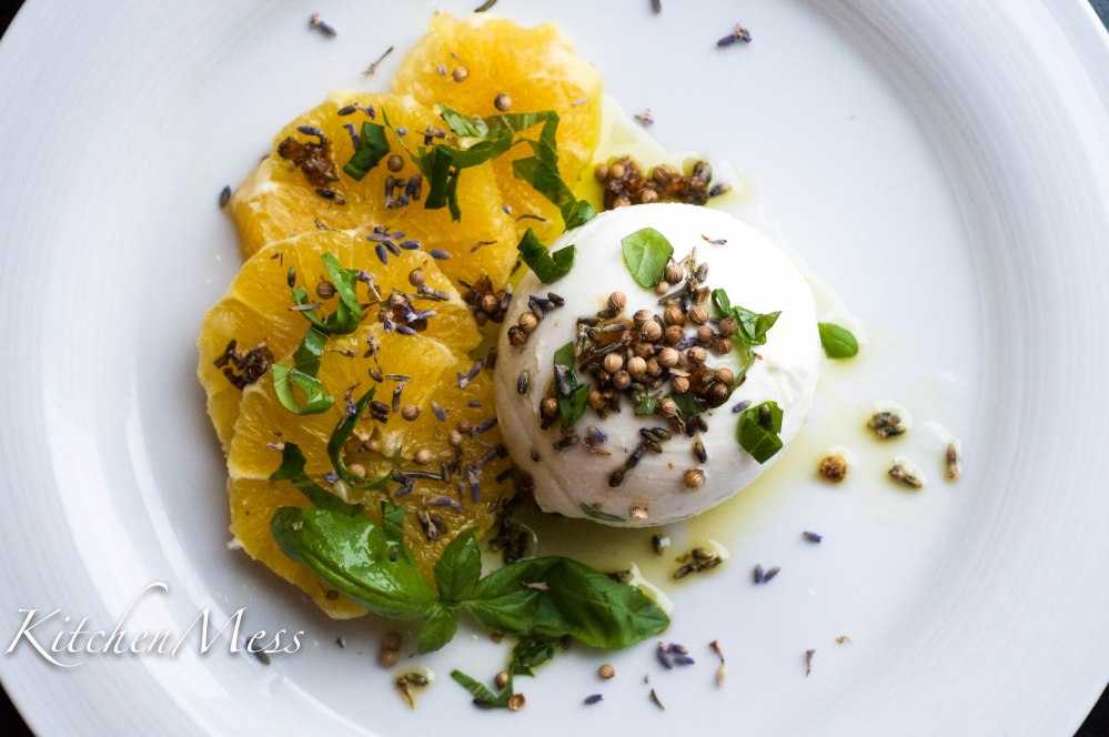 Burrata with Oranges, Coriander Seeds, and Lavender Oil (17 of 25)