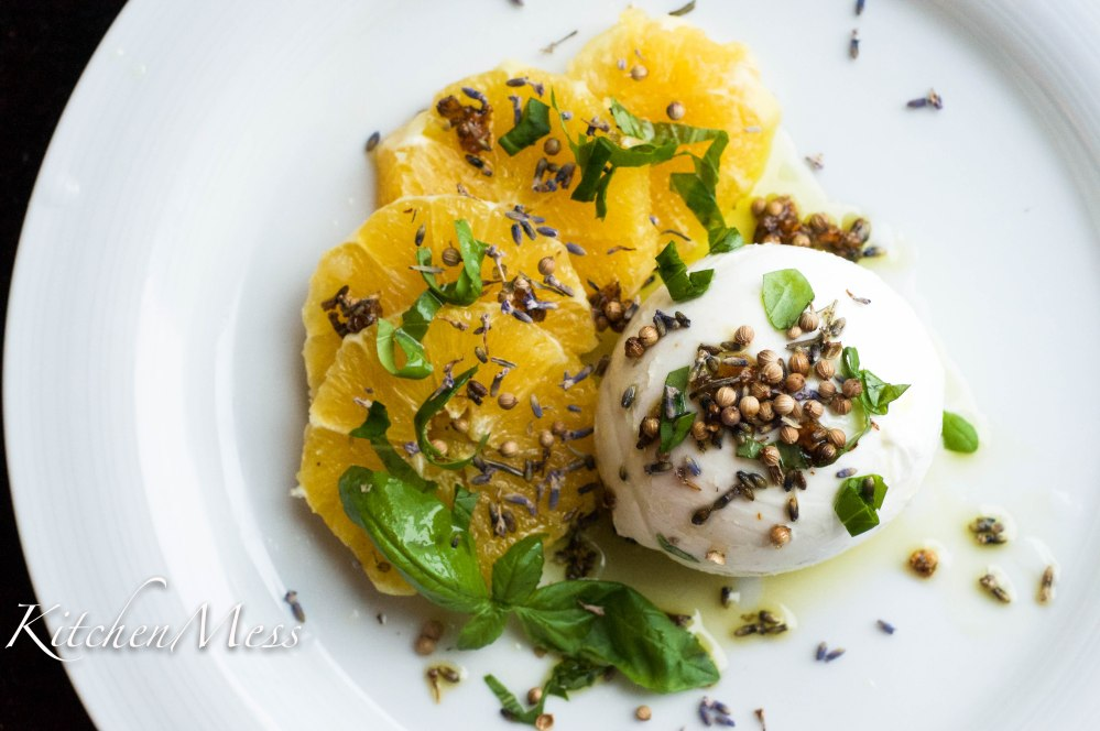 Burrata with Oranges, Coriander Seeds, and Lavender Oil (18 of 25)