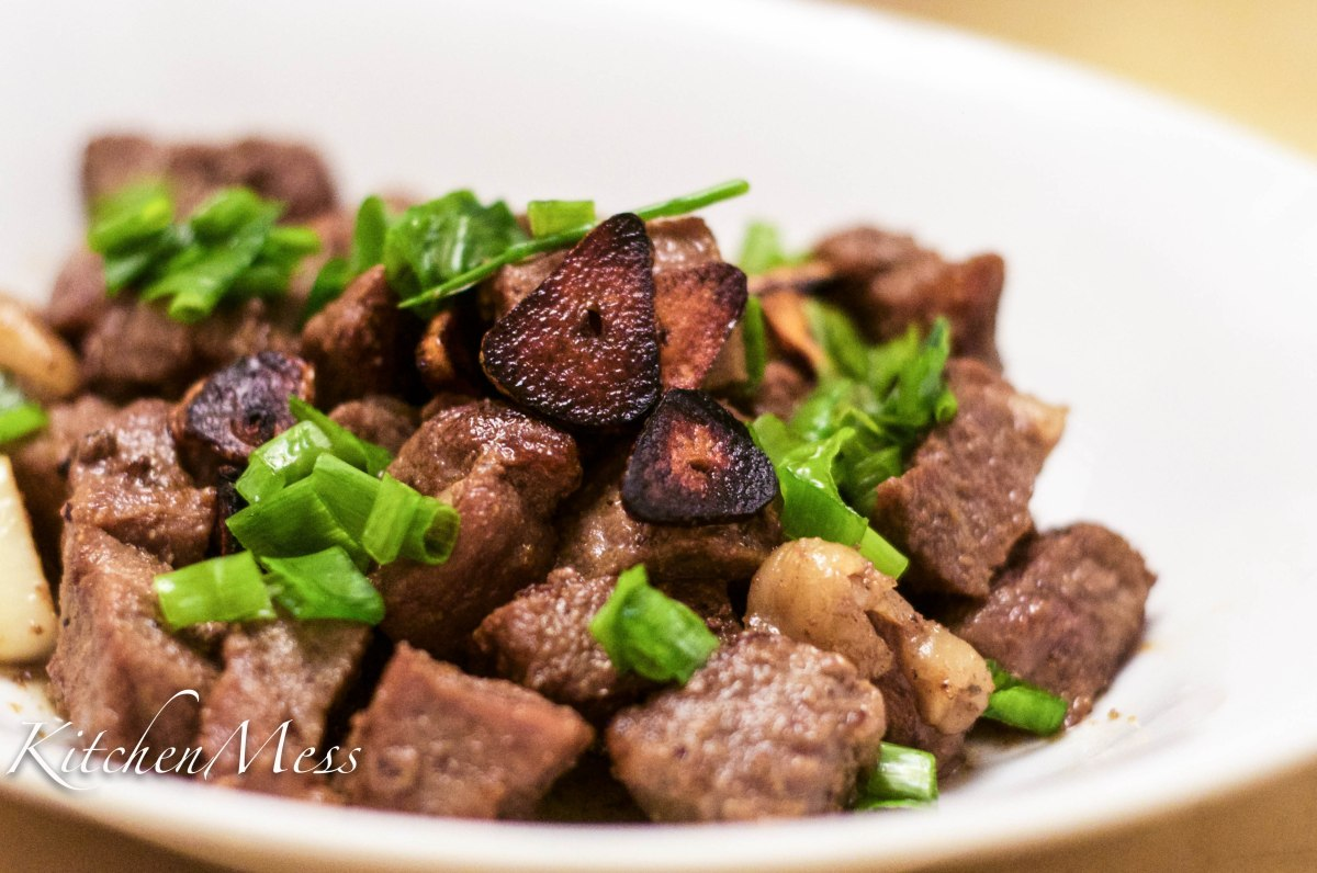 Wasabi Beef Cubes