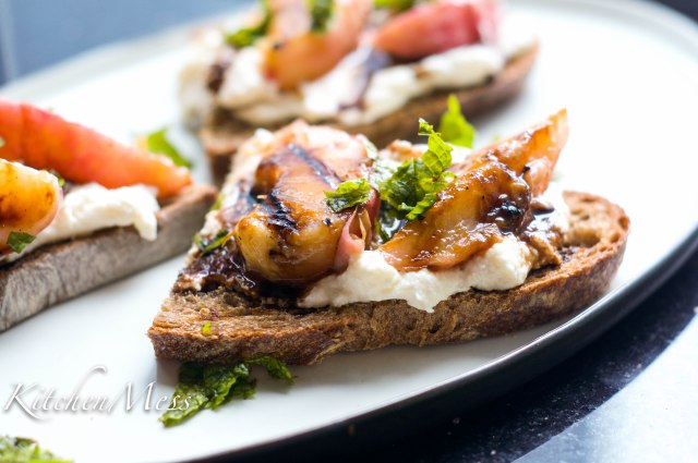 Grilled Vanilla Peaches with Ricotta Toast (23 of 26)
