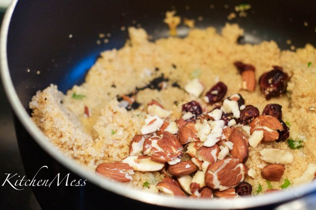 Saffron couscous with cranberries and almonds (5 of 14)