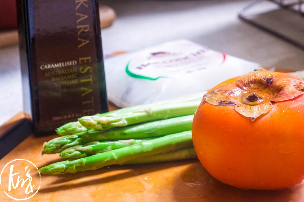 Grilled asparagus with persimmon and mozzarella (2 of 14)