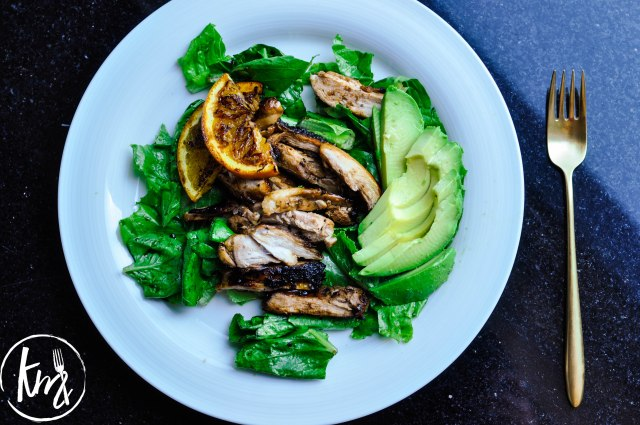 Grilled citrus soy chicken salad-0805
