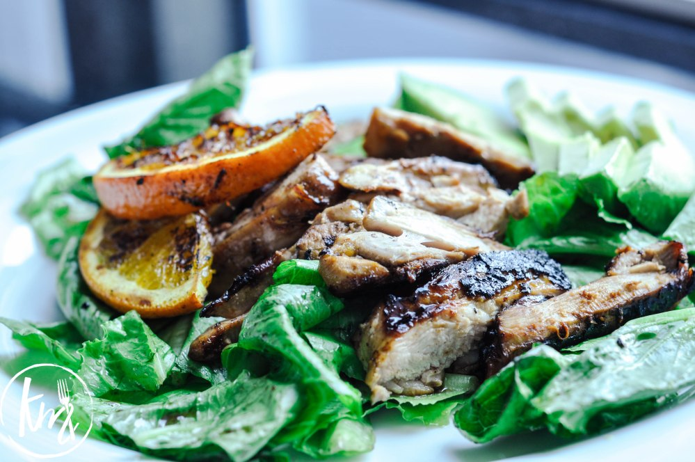 Grilled citrus soy chicken salad-0817