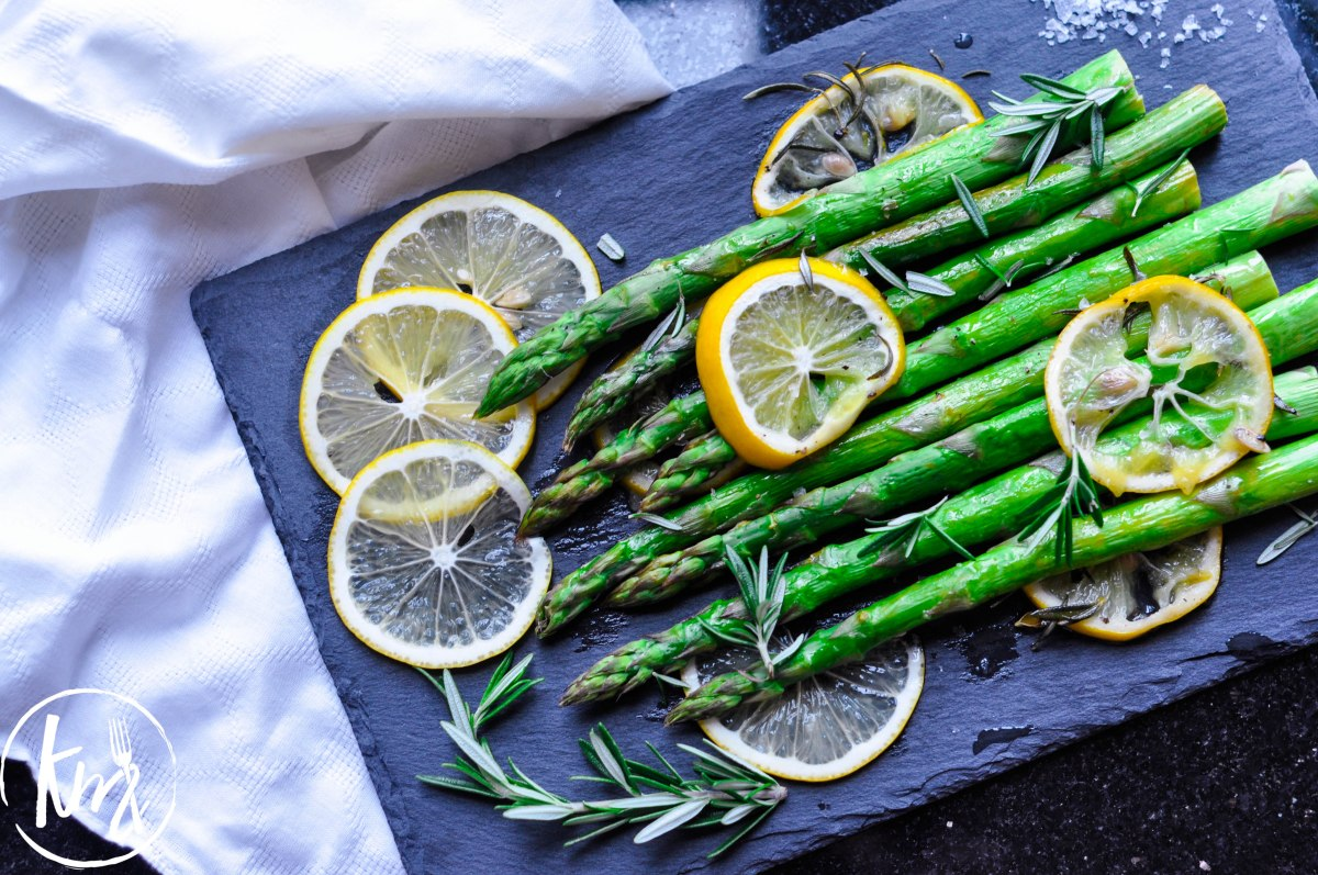Roast Asparagus with Rosemary and Lemon Zest